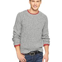 Marl ribbed crewneck sweater