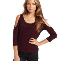 Jack Juniors Norelle Slubby Jersey Cold Shoulder Top