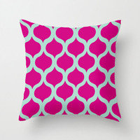Safi Sunrise Pillow in Magenta