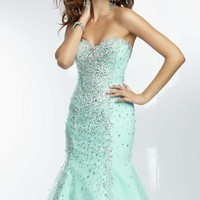Strapless Mermaid Gown by Paparazzi by Mori Lee