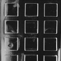 Life Of Party Molds AO065 Plain Square Mints All Occasions Chocolate Candy Mold