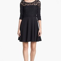 Lilly Pulitzer® 'Remmy' Lace Bodice Ponte Knit Fit & Flare Dress | Nordstrom