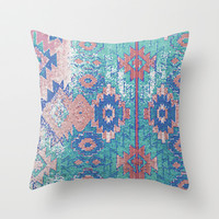 jemez in opal Throw Pillow by Miranda J. Friedman