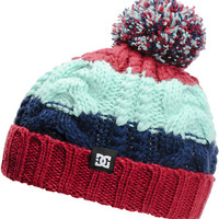 DC Girls Elm Burgundy, Mint, & Blue Pom Fold Beanie