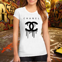 Chanel Paris Fashion Printed T Shirt, Women T Shirt, (Various Color Available)