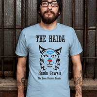 THE HAIDA-The Queen Charlotte Islands Shirt Design T Shirt for Men (Various Color Available)