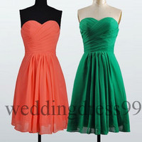 Short Chiffon Bridesmaid Dresses 2014 Evening Gowns Party Dress New Bridesmaid Dresses Homecoming Dress Cocktail Dresses Cheap Dress
