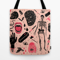 Whole Lotta Horror Tote Bag by Josh Ln