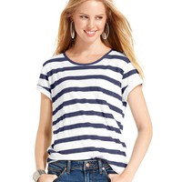 American Rag Top, Short Sleeve Striped Tee