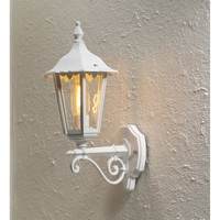 Konstsmide Forli Single Light White Outdoor Wall Fitting in Upwards Direction - Konstsmide from Castlegate Lights UK