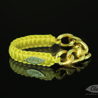 By(oleel)YellowCobraSilkyBraceletWithGol...