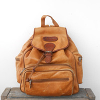 Vintage Caramel Brown Leather Backpack,Rucksack,Leather Rucksack ,Travel Backpack ,Unisex [ BP0009 ]