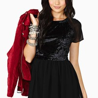 Black Magic Velvet Dress