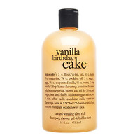 Philosophy Vanilla Birthday Cake Shampoo, Shower Gel & Bubble Bath (16 oz