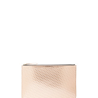 Large Pouch in Pink Gold