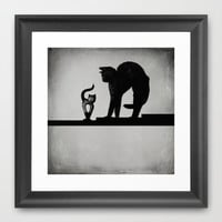 Stretching Framed Art Print by SensualPatterns