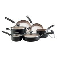 Farberware Reliance 10 piece Black Aluminum Cookware Set
