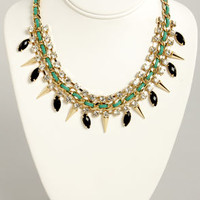 Sugar and Spikes Green and Black Necklace