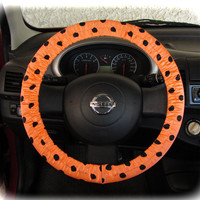 Steering-wheel-cover-for-wheel-car-accessories-peach-polka-dot-wheel-cover