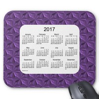 Purple Diamonds 2017 Calendar Mouse Pad