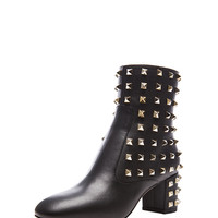 Rockstud Leather All Over Boot T.55 in Black