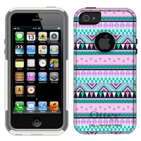 Otterbox Commuter Series Aztec Andes Mauve and Teal Pattern Hybrid Case for iPhone 5 & 5s