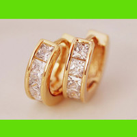 Diamond Ring Wrapping Earrings