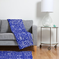Aimee St Hill Amirah Blue Fleece Throw Blanket