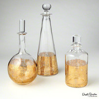 Crosshatch Cylinder Decanter - Global Views | Luxe Home Philadelphia