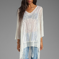 Free People Dancing with Flowers Kaftan in Ivory Combo
