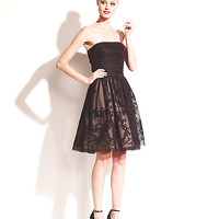 STRAPLESS ILLUSION PARTY DRESS