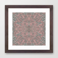 Snowflake Pink Framed Art Print by Project M