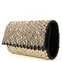 Metallic Coin Clutch | MakeMeChic.com