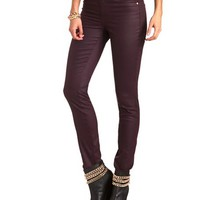 HI-RISE COATED DENIM SKINNY JEAN