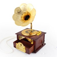 "Music Box Gifts Record Player, plays ""To Alice"""