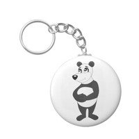 Panda bear cartoon keychain