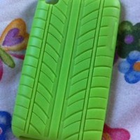 Green Ipod 4 Rubber Case