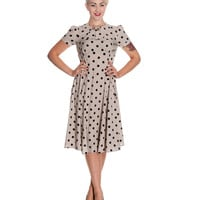 Grey & Black Polka Dot Madden Swing Dress