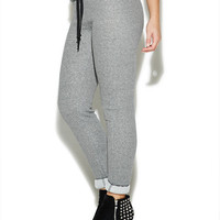 Skinny Stipe Fleece Jogger Pant | Wet Seal