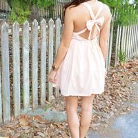 Little Bow Peep Dress: Peach