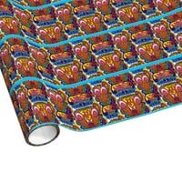 GROOVY SIXTIES STYLE RETRO CHRISTMAS WRAPPING PAPR