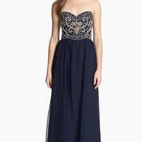 Sean Collection Embellished Strapless Silk Gown (Online