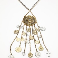 Dripping Coin Pendant