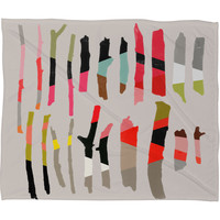 Garima Dhawan Painted Twigs 1 Fleece Throw Blanket