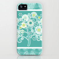 Tree of Life Floral Damask Watercolor Pattern iPhone & iPod Case by Audrey Jeannes