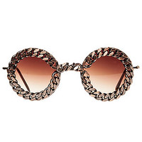 The Wildmoon x Untitled & Co Gold Chain Sunglasses