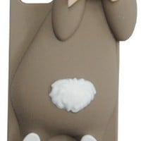 Moschino 3d Cute Rabbit Silicone Soft Back Cover Case for Iphone 5, Iphone 5s - Brown