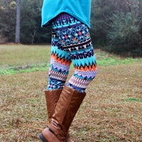 Different With a Twist Leggings: Multi