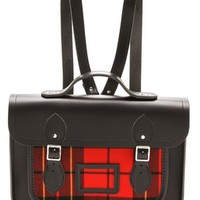 "13"" Tartan Satchel Backpack"