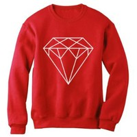 DIAMOND Red Small Sweatshirt